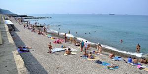 Туапсе. Городской пляж