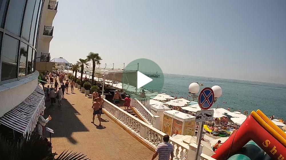 Лазаревское веб камера на центральном пляже - Отдых