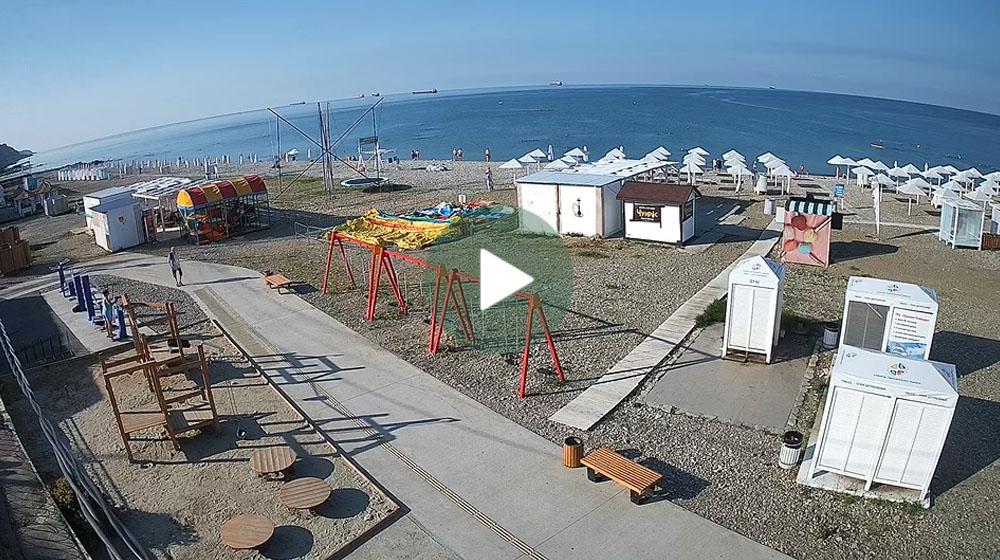 Веб-камера Туапсе. Городской пляж