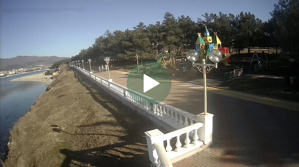 веб камера геленджик онлайн в реальном времени пляж наступлением
